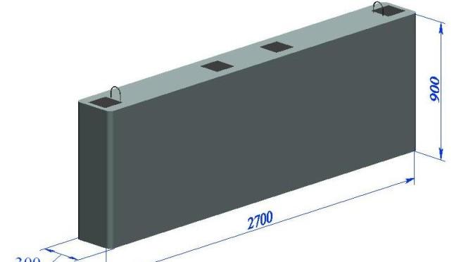 Блок фундаментный для посадочной платформы