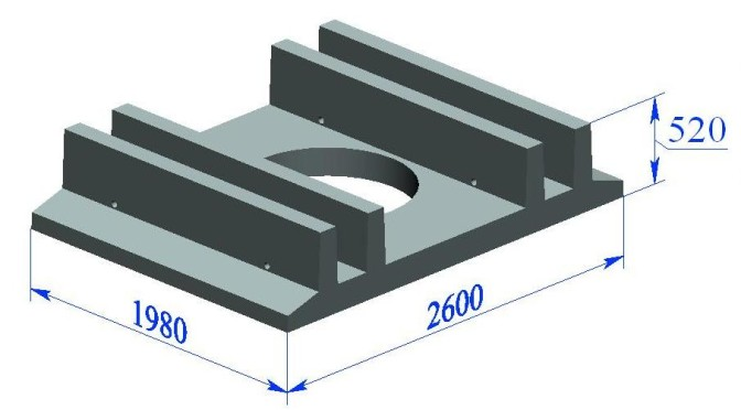 Фундаментная плита ФПд-СК