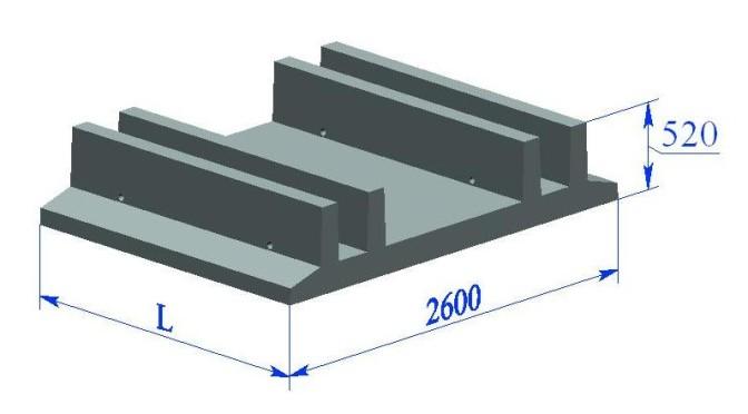 Фундаментная плита ФП-СК