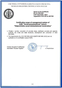 Sert GOST ISO9001-2015 Annex